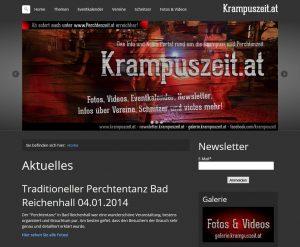 Rückblick: Krampuszeit.at Version 1